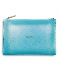 Katie Loxton TIME TO SHINE Perfect Pouch Clutch Bag  Pearlescent Blue